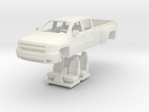 1:64 Chevy Silverado Crew Cab Dually in White Strong & Flexible