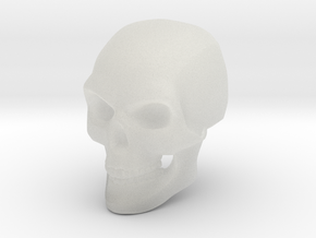 3D Printed Skull - Small in Smooth Fine Detail Plastic