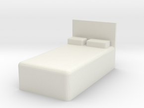 Twin Bed 1/24 in White Natural Versatile Plastic