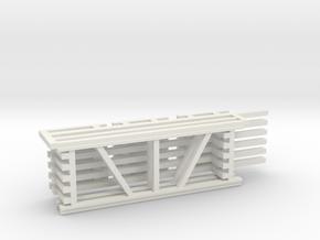 36X96 & 120 Beam Kit 1-87 HO Scale in White Natural Versatile Plastic