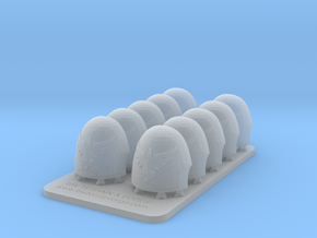 Bran Del Sangre V10 Smooth Reaper Shoulder Pads in Smooth Fine Detail Plastic