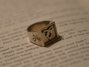 Nephilim Ring in Natural Silver: 7.5 / 55.5