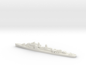 USS Strong destroyer 1944 1:1800 WW2 in White Natural Versatile Plastic