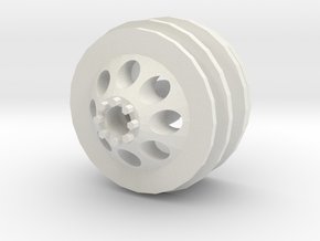 WPL dually wheel front in White Natural Versatile Plastic