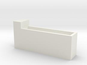 1/64 cattle waterer single side in White Natural Versatile Plastic