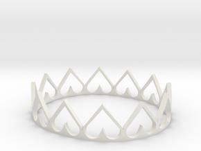 Heart Crown in White Natural Versatile Plastic