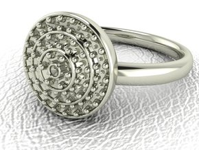Grace collection 21 NO STONES SUPPLIED in 14k White Gold