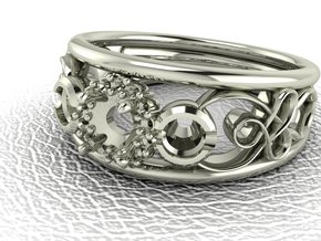 Filigree halo engagement ring NO STONES SUPPLIED in 14k White Gold