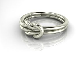 Knot dress ring NO STONES SUPPLIED in Fine Detail Polished Silver