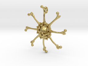 Vehmic Bone Pendant in Natural Brass
