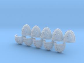 Shark Mk7/8 shoulder pads x10L in Smooth Fine Detail Plastic