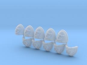 Shark Shoulder Pads Mk7/8 R x10 in Smooth Fine Detail Plastic