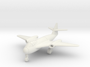 (1:144) Messerschmitt Me P.1100/II Crescent wing in White Natural Versatile Plastic