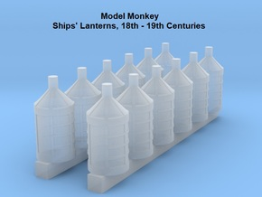 1/84 Lanterns for 18th and 19th Century Ships in Smoothest Fine Detail Plastic