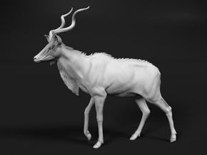 Greater Kudu 1:40 Walking Male in White Natural Versatile Plastic
