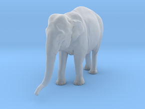 Indian Elephant 1:22 Standing Female 1 in Smooth Fine Detail Plastic