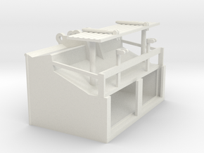 1/64th Speed Loader Bucket for Excavator in White Natural Versatile Plastic