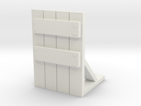 Wooden Barricade 1/48 in White Natural Versatile Plastic
