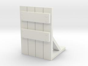 Wooden Barricade 1/48 in White Natural Versatile Plastic