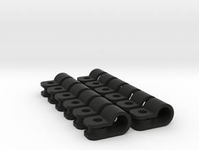 "12 x 3/16"" rod clamps in Black Natural Versatile Plastic"