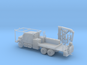 4 Door Freightliner MOW Truck 1-87 HO Scale in Smooth Fine Detail Plastic