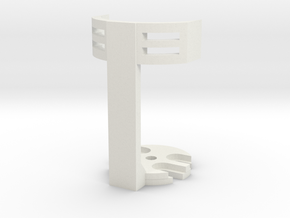34mm LDC mic bracket in White Natural Versatile Plastic