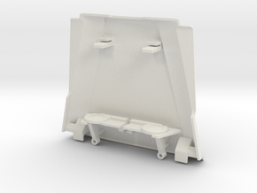 Type T Hood and Grille for Micro Shark in White Natural Versatile Plastic