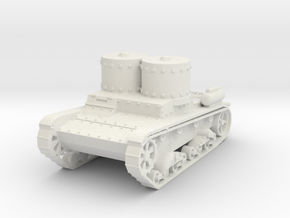 T-26 ST smoke and flam 1:87 in White Natural Versatile Plastic