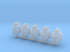 WH40k scale - Halo 5 Achilles Helmets in Smoothest Fine Detail Plastic: Small