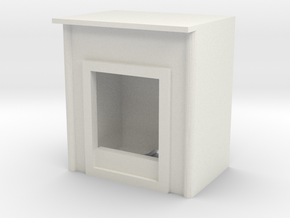 Fireplace 1/24 in White Natural Versatile Plastic
