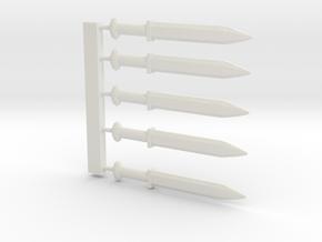Sword SET in White Natural Versatile Plastic