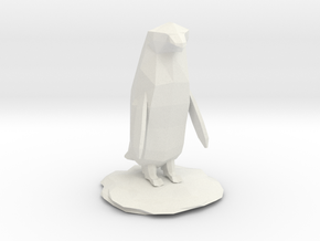 Penguin in White Natural Versatile Plastic
