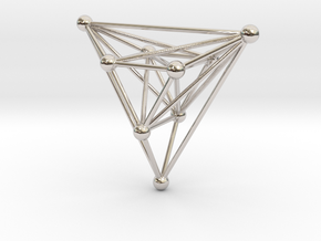 triangular atom array in Rhodium Plated Brass