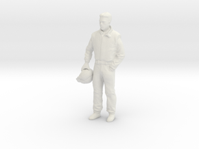 1/18 Auto Collection Racing/Test Driver with Helme in White Natural Versatile Plastic
