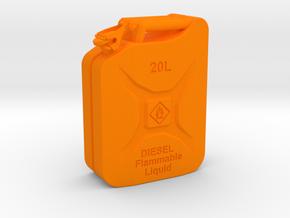 Jerry Can Diesel HD 1\10 in Orange Processed Versatile Plastic: 1:10
