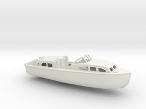 1/96 Scale 40 ft Rescue Boat Mk 1 USN in White Natural Versatile Plastic