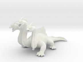 Hydra DnD miniature games rpg dragon monster in White Natural Versatile Plastic