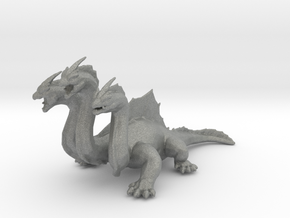 Hydra DnD miniature games rpg dragon monster in Gray PA12