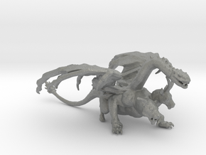 Chimera monster DnD miniature games rpg dungeons in Gray PA12