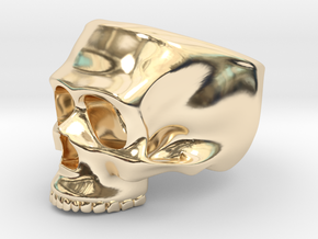 Skull Ring in 14K Yellow Gold