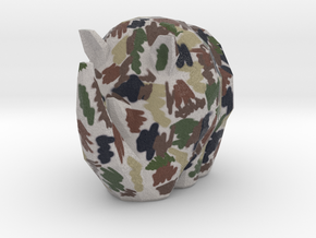Cammo Rhino in Natural Full Color Sandstone: Small
