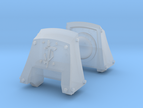 Guys of Doom Count Dreadnought runic pads in Smooth Fine Detail Plastic