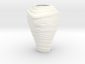Vase D in White Strong & Flexible Polished