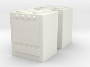 Stove (x2) 1/100 in White Natural Versatile Plastic