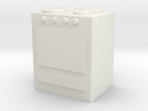 Stove 1/76 in White Natural Versatile Plastic