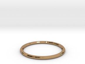 Minimalist Single Band Ring Size 6 in Polished Brass