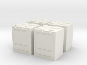 Stove (x4) 1/160 in White Natural Versatile Plastic