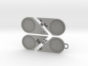 Illusionist Heart Pendant in Metallic Plastic