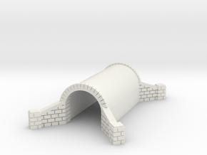 N Scale Brick Walkway Tunnel Single Track 1:160 in White Natural Versatile Plastic