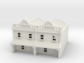 N Scale Terrace House 2 Storey (Double) 1:160 in White Natural Versatile Plastic